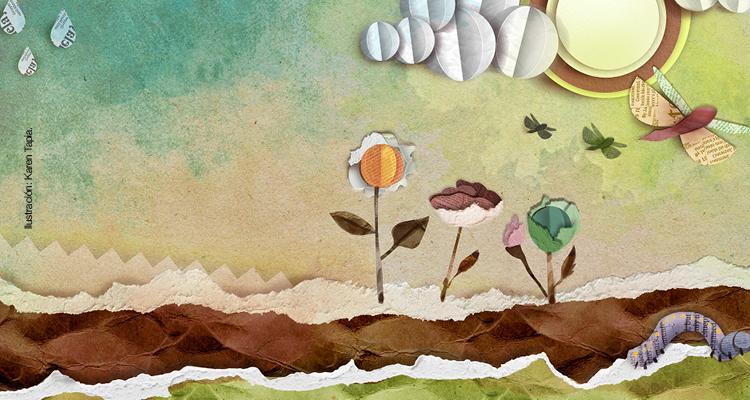 imagen Jardín de papel